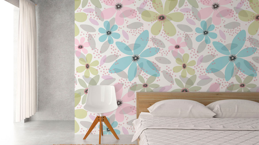 PATTERN FLORES nº 6 PAPEL DE PARED